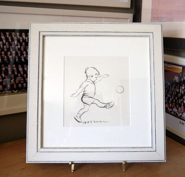 Little Boy kicking a ball - JHD 85